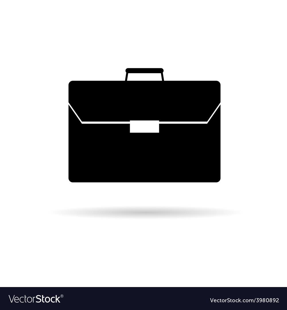 Briefcase black vector