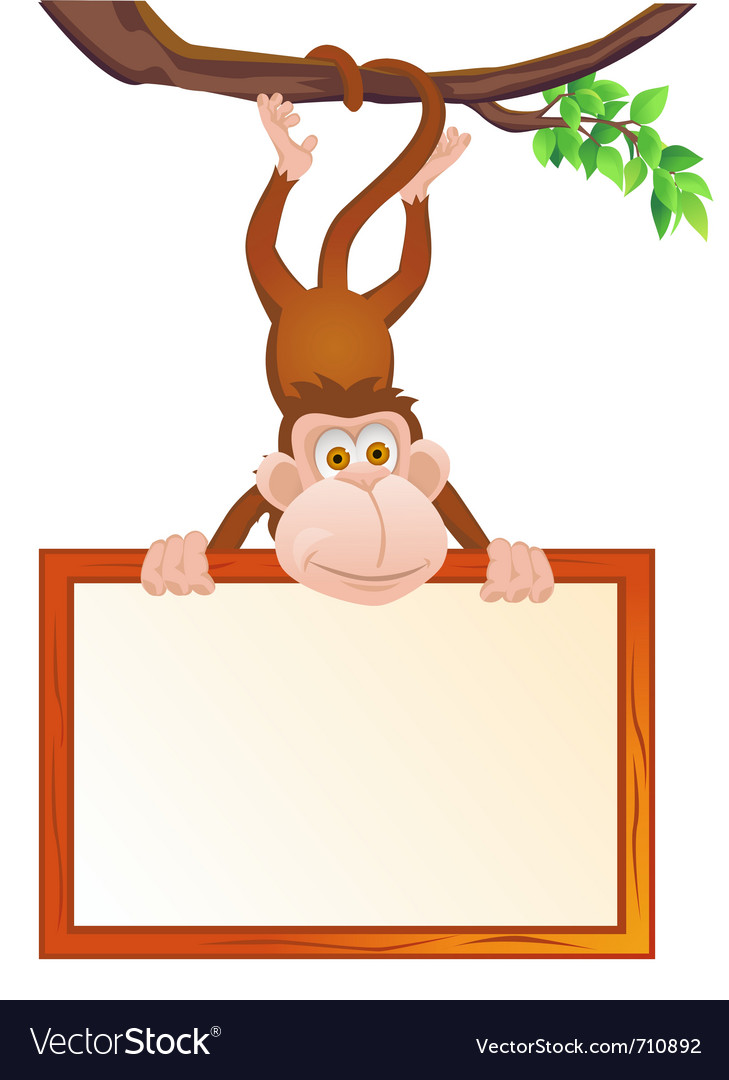 Funny monkey vector | Price: 3 Credit (USD $3)