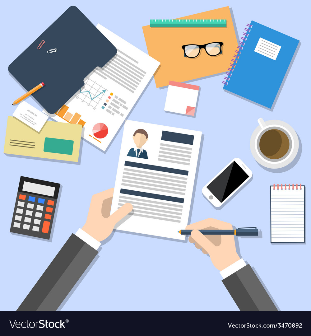 Hr manager working with cv concept vector | Price: 1 Credit (USD $1)
