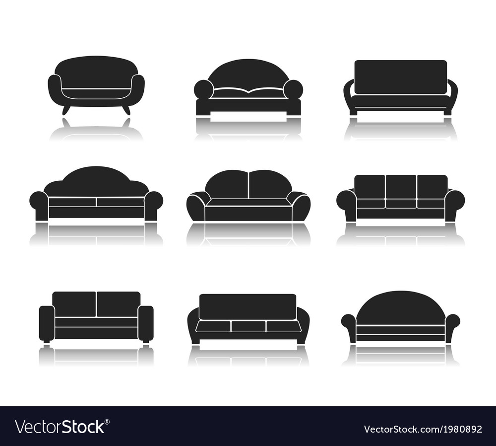 Modern luxury sofas and couches vector | Price: 1 Credit (USD $1)