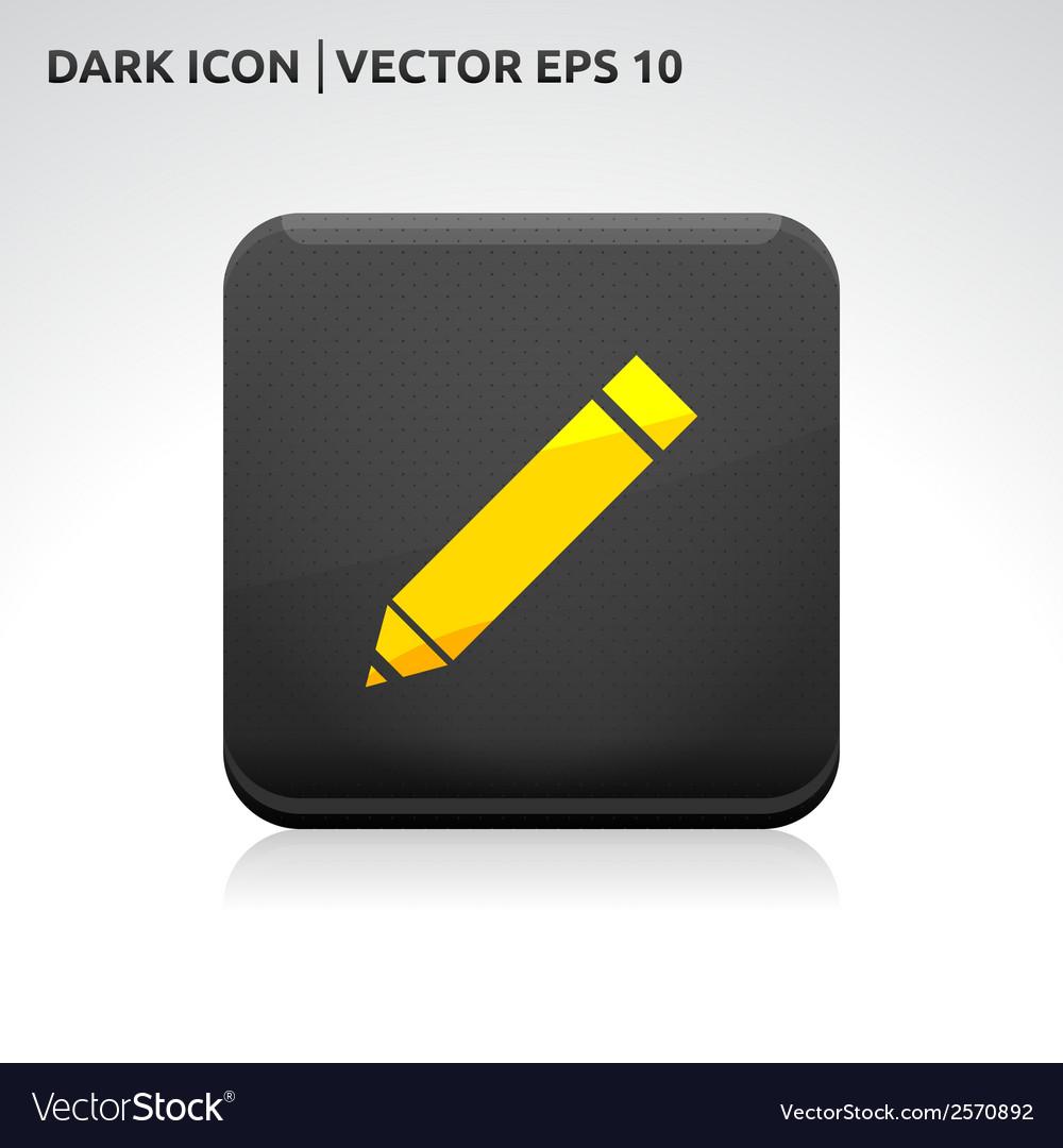 Pencil pen icon gold vector   Price: 1 Credit (USD $1)