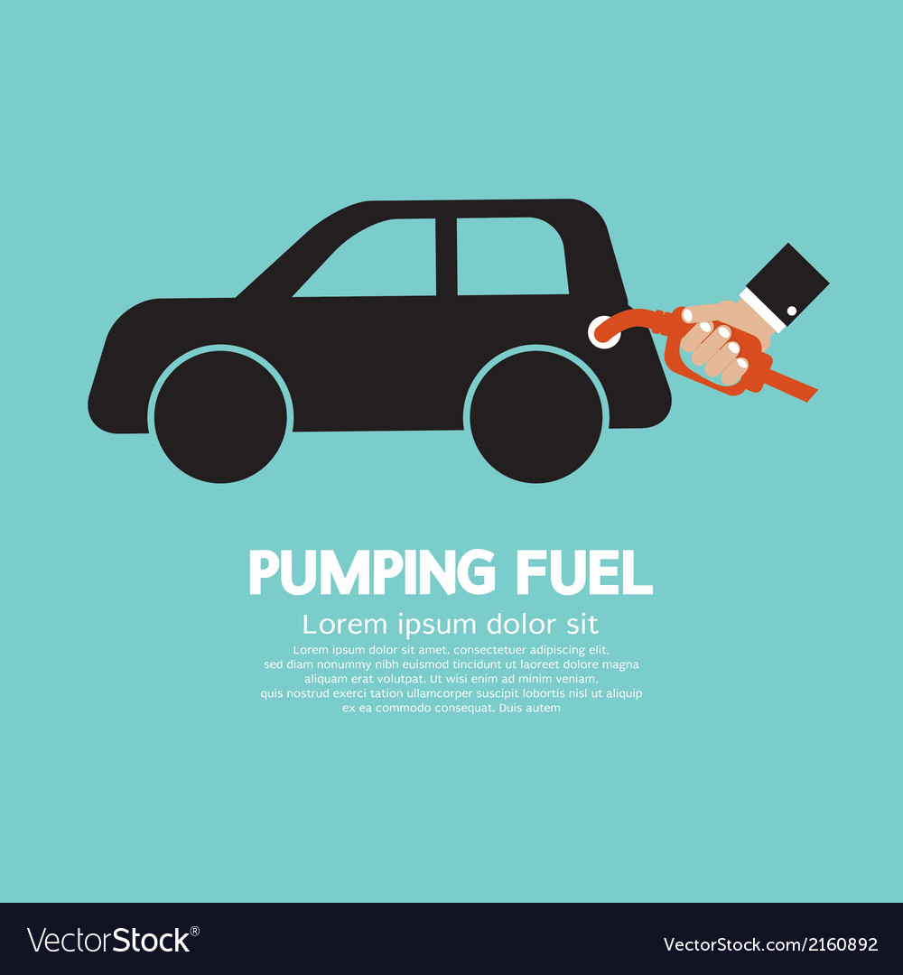 Pumping fuel vector | Price: 1 Credit (USD $1)