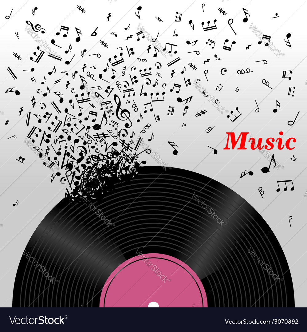 Retro music concept vector | Price: 1 Credit (USD $1)
