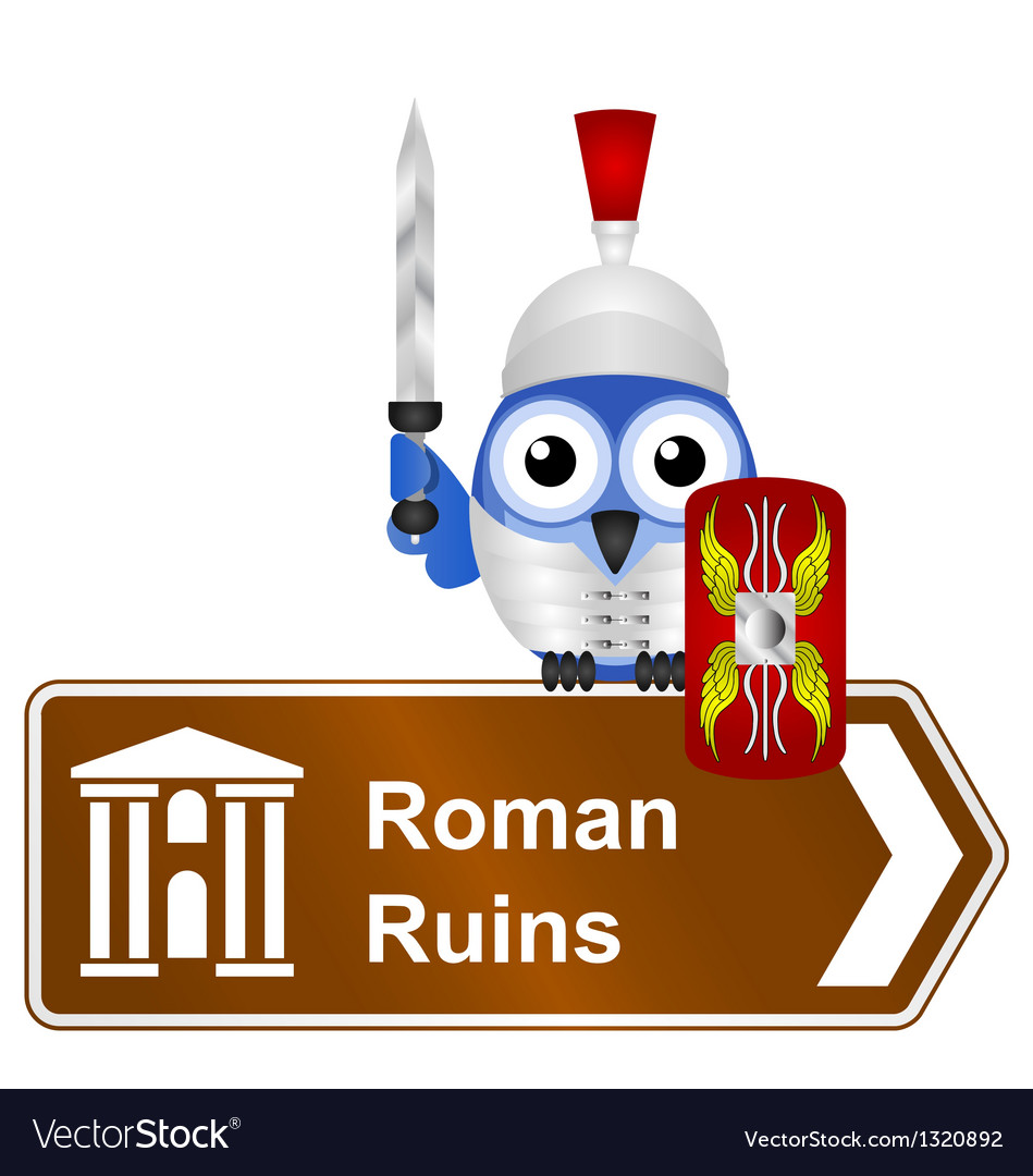 Sign roman ruins vector | Price: 1 Credit (USD $1)