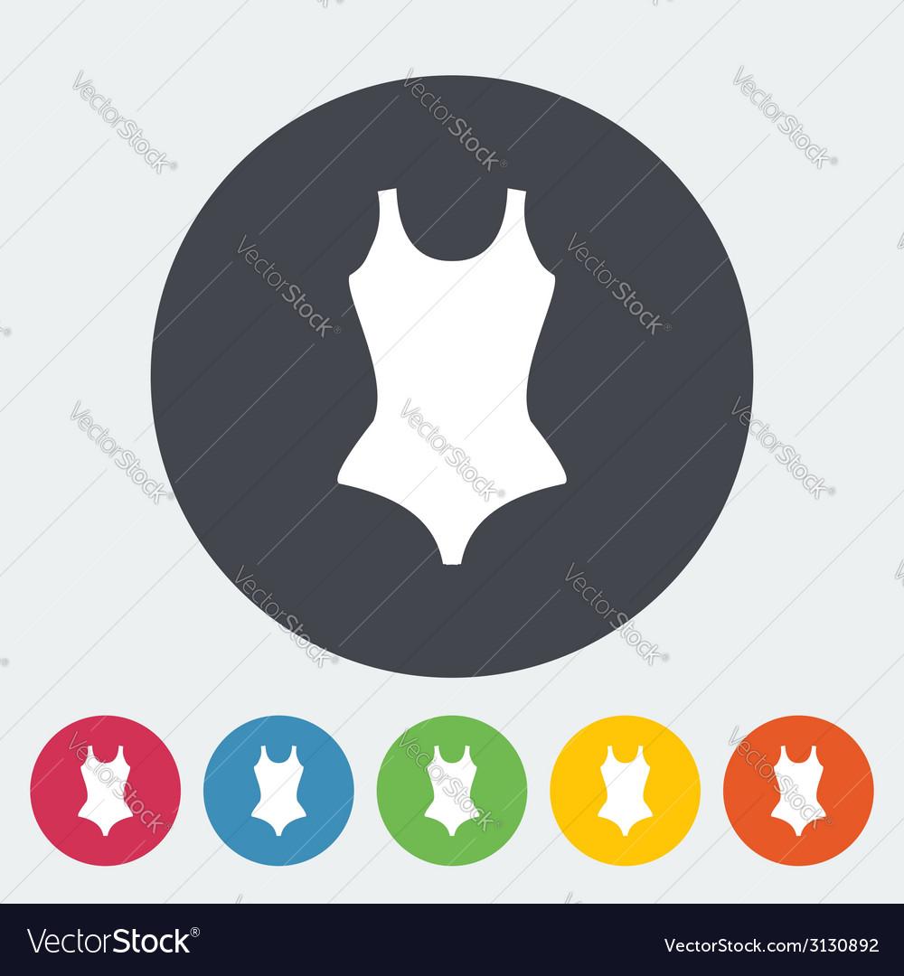 Swimsuit icon vector   Price: 1 Credit (USD $1)