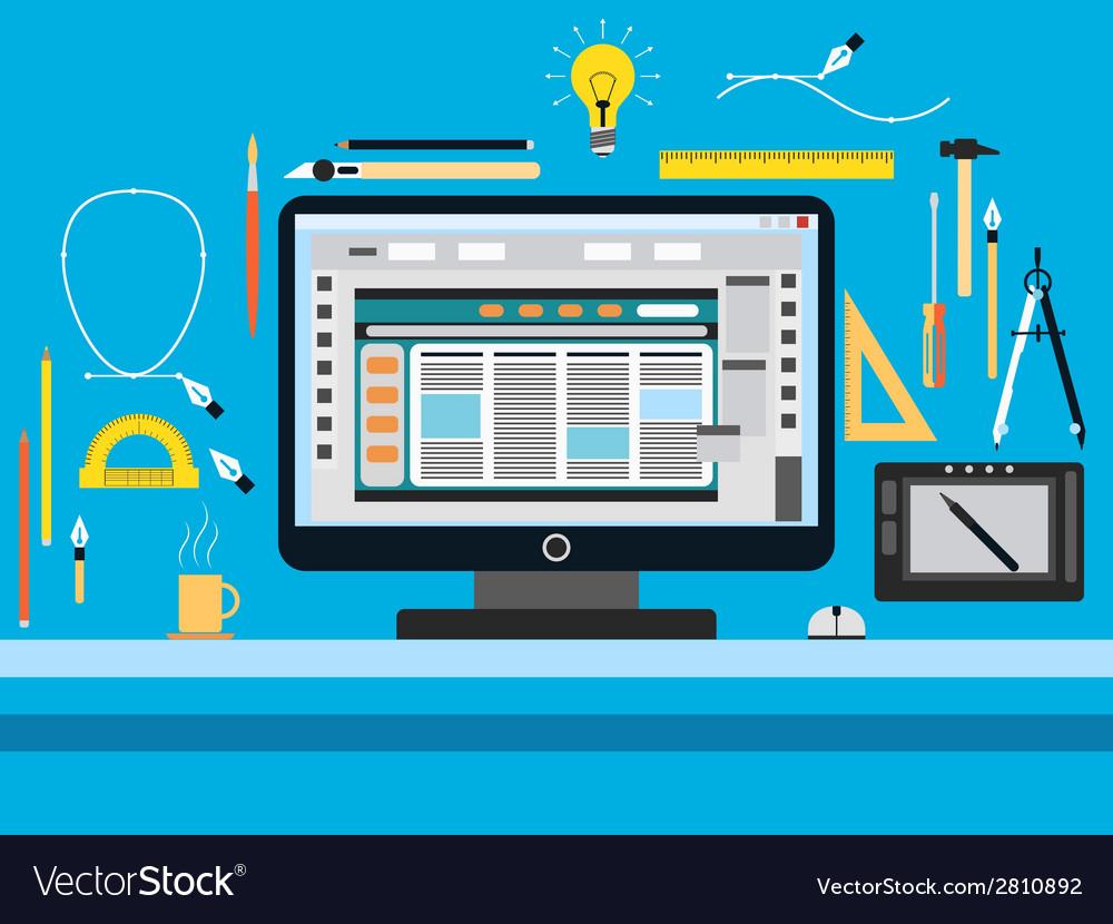 Web design flat concept vector   Price: 1 Credit (USD $1)