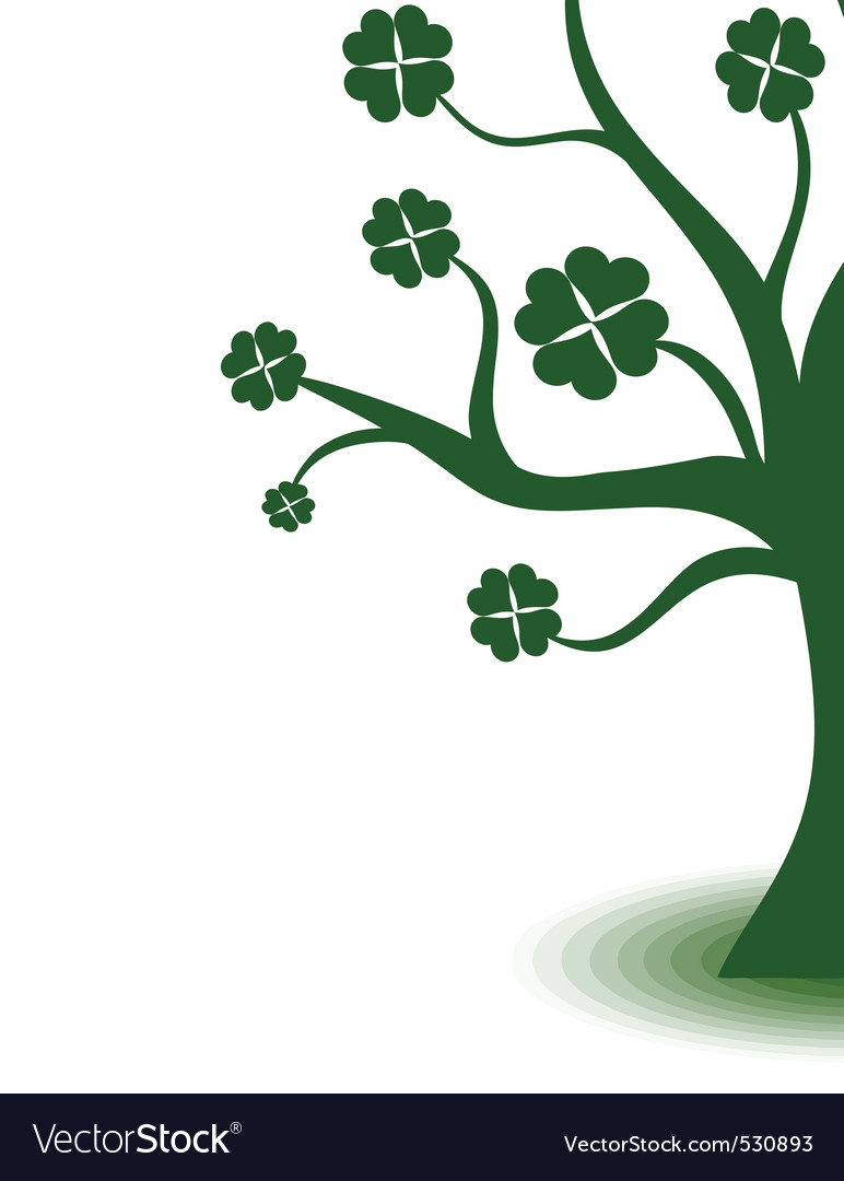 Beautiful green art tree on white background vector | Price: 1 Credit (USD $1)
