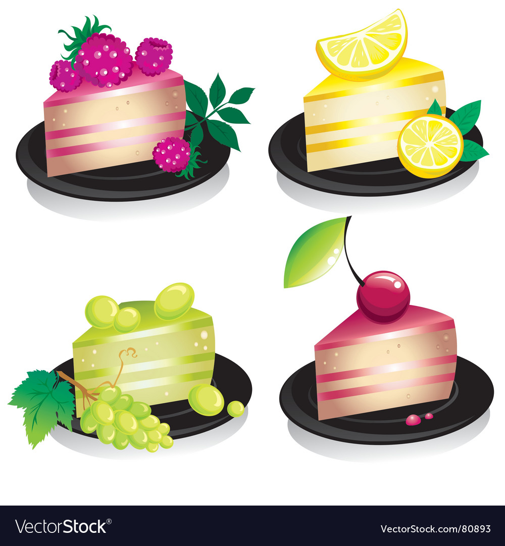 Cheese cake vector | Price: 1 Credit (USD $1)