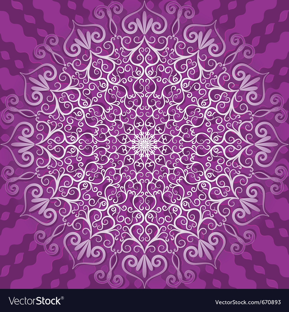 Decorative violet pattern vector | Price: 1 Credit (USD $1)