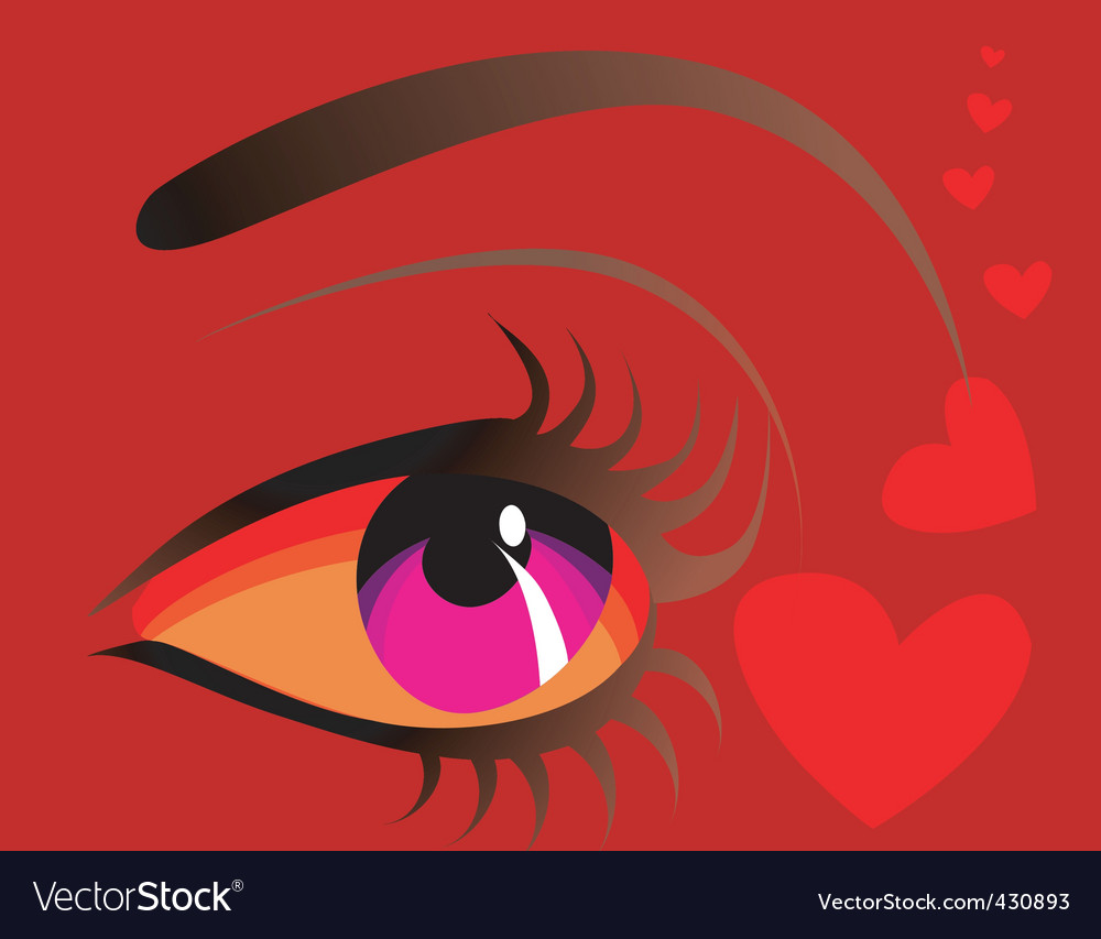 Eye and heart vector | Price: 1 Credit (USD $1)