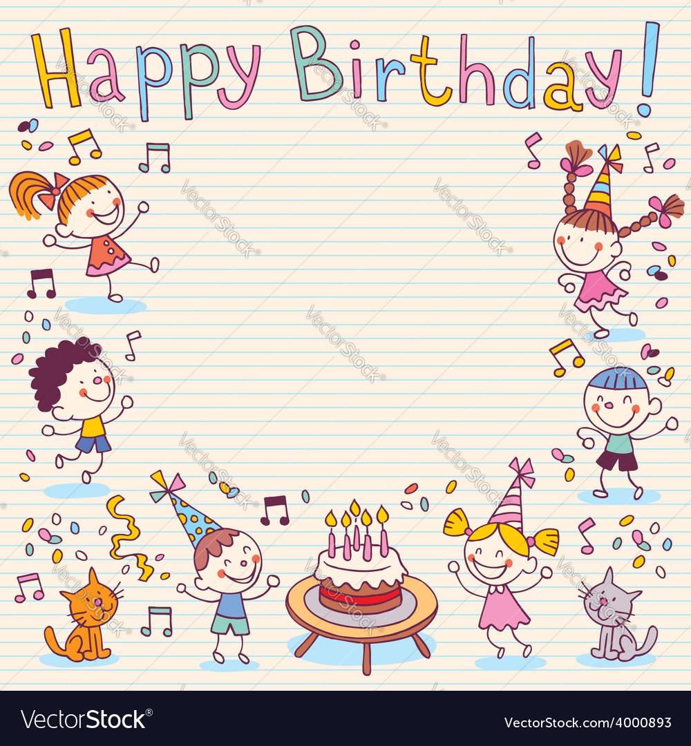 Happy birthday card 12 vector   Price: 1 Credit (USD $1)