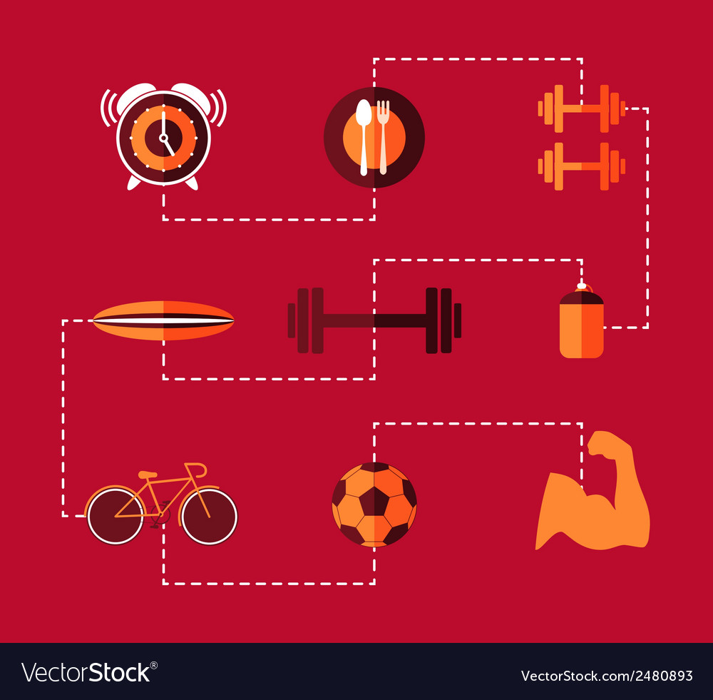 Healthy lifestyle icons vector | Price: 1 Credit (USD $1)