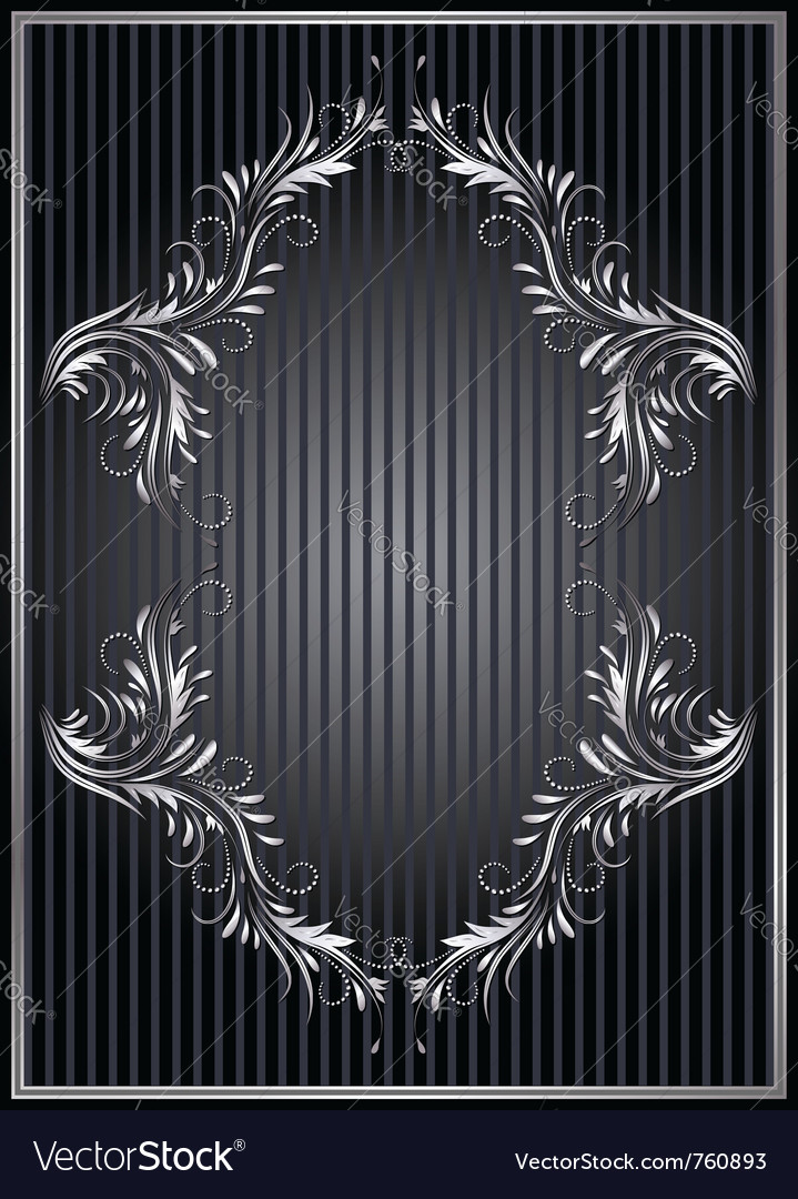 Silver ornament vector | Price: 1 Credit (USD $1)