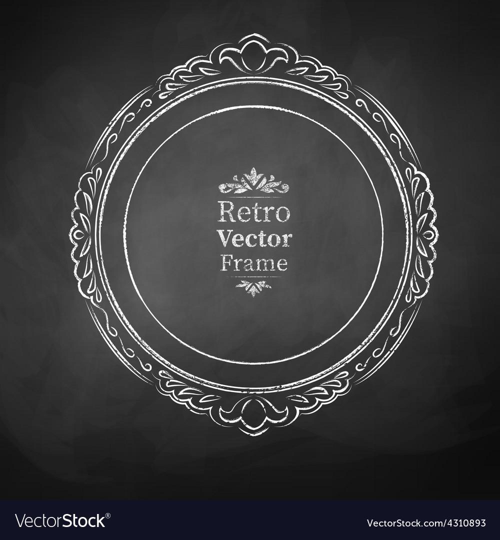 Vintage baroque frame vector | Price: 1 Credit (USD $1)