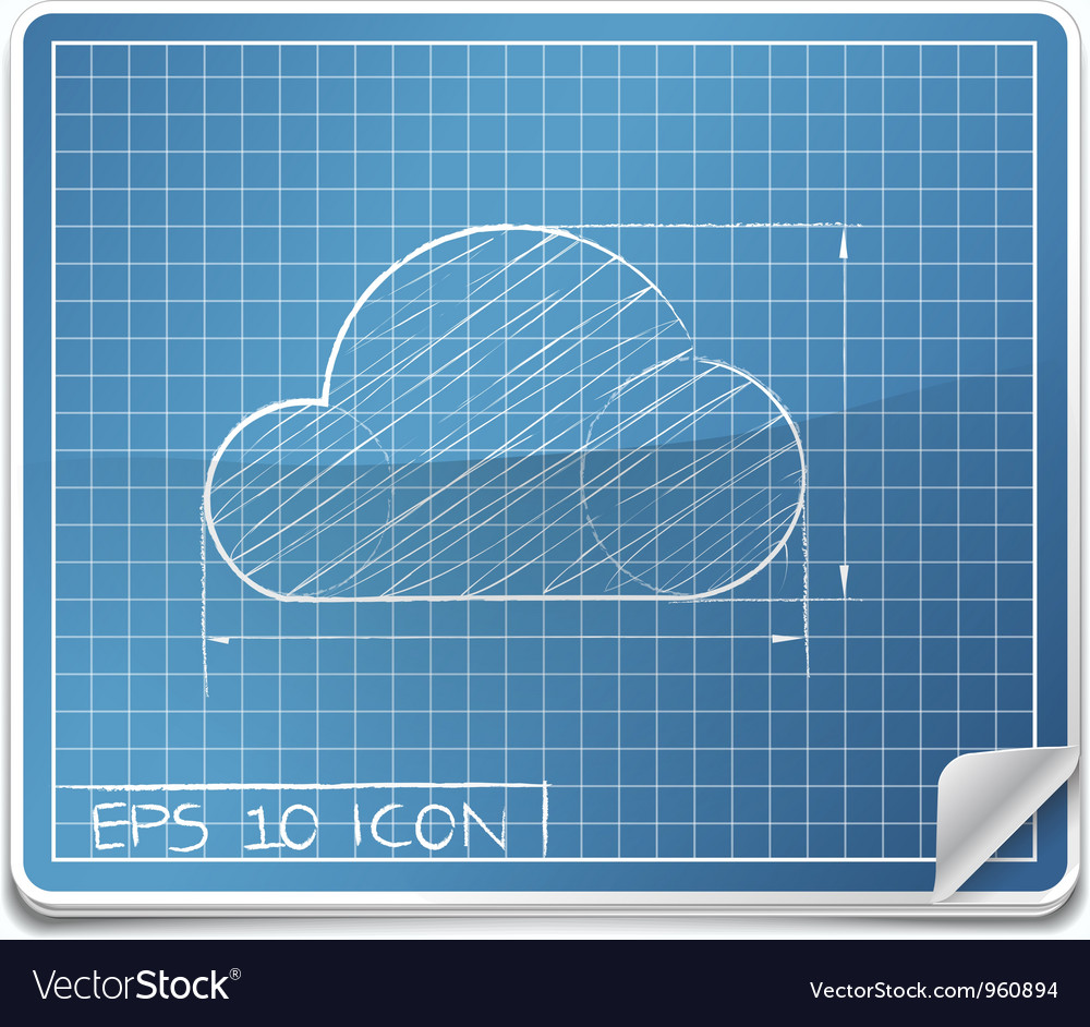Blueprint icon vector | Price: 1 Credit (USD $1)