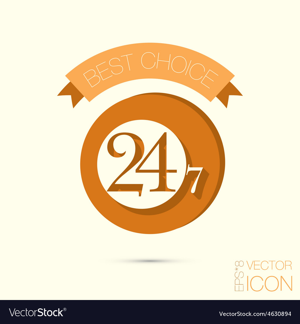 Character 24 7 vector | Price: 1 Credit (USD $1)