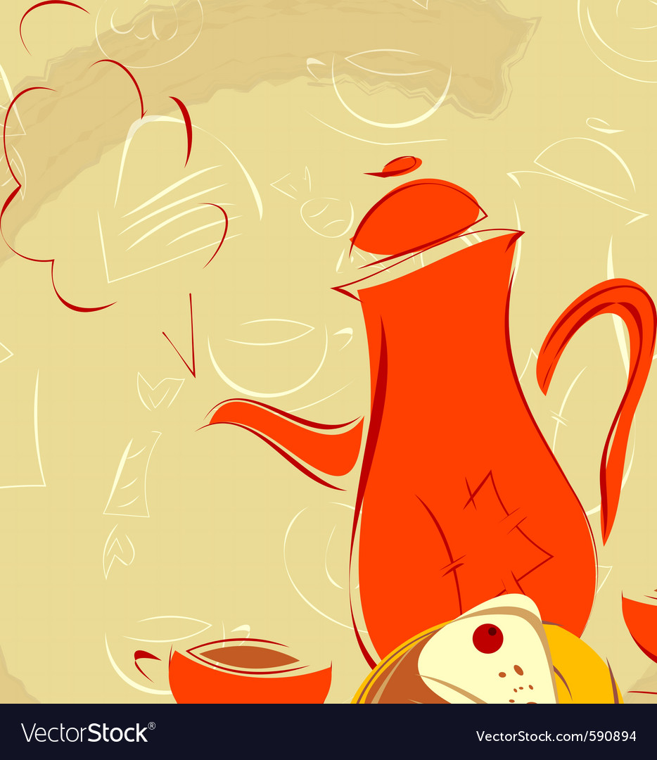 Coffee pot vector | Price: 1 Credit (USD $1)