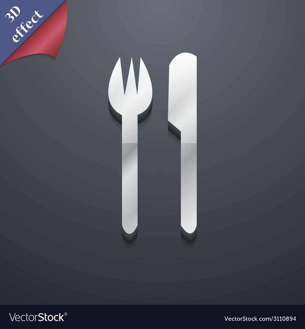 Cutlery icon symbol 3d style trendy modern design vector   Price: 1 Credit (USD $1)
