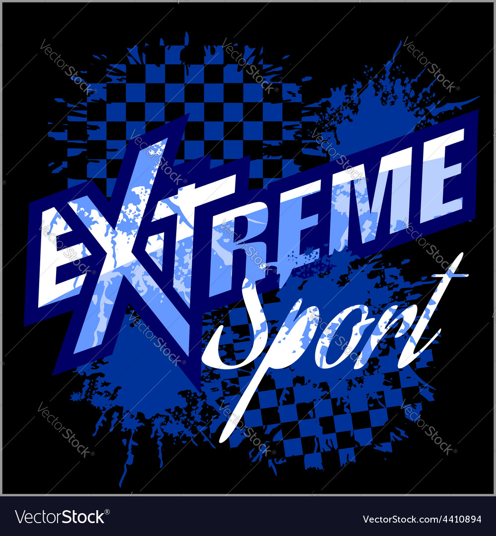 Extreme sport - logo for tshirt vector | Price: 3 Credit (USD $3)