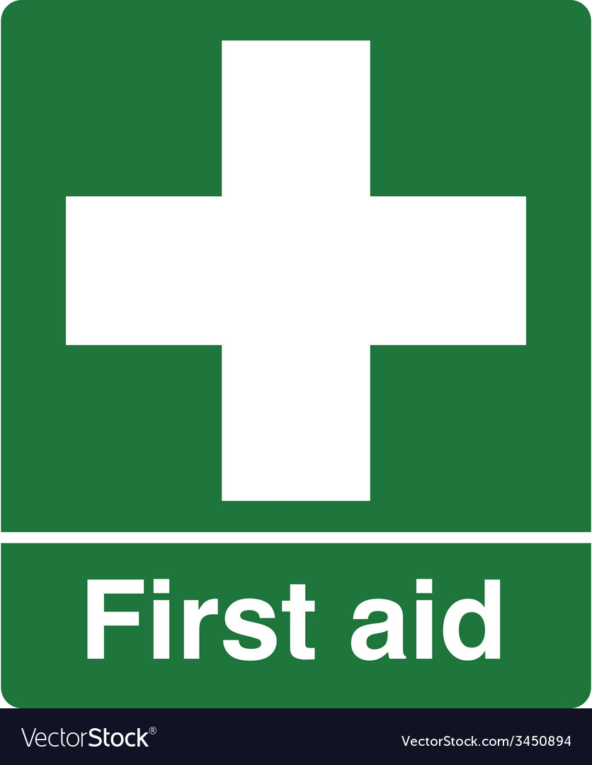 First aid station safety sign vector | Price: 1 Credit (USD $1)
