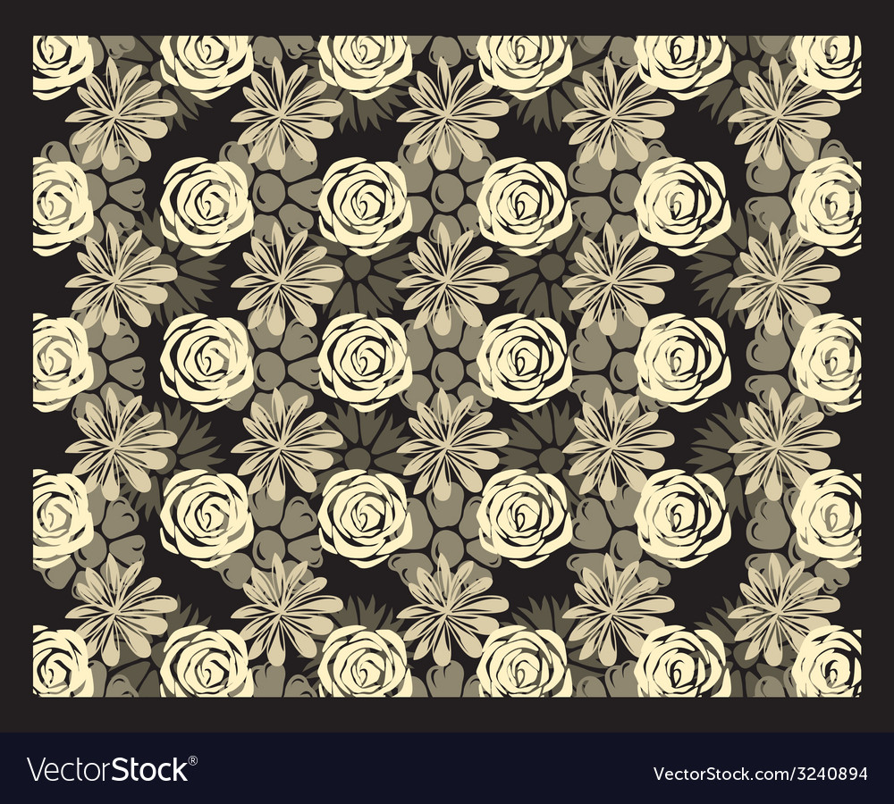 Multi-level floral stereogram vector | Price: 1 Credit (USD $1)