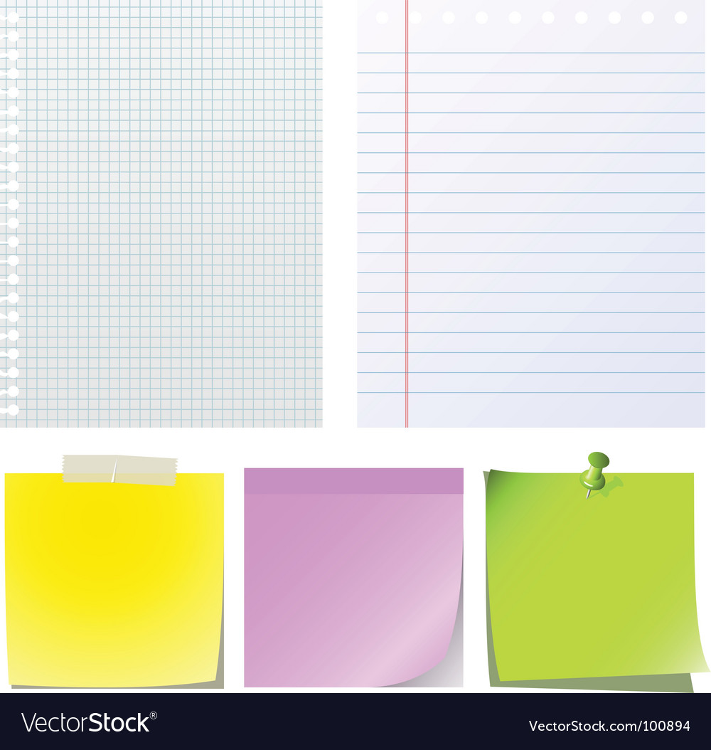 Note papers vector | Price: 1 Credit (USD $1)
