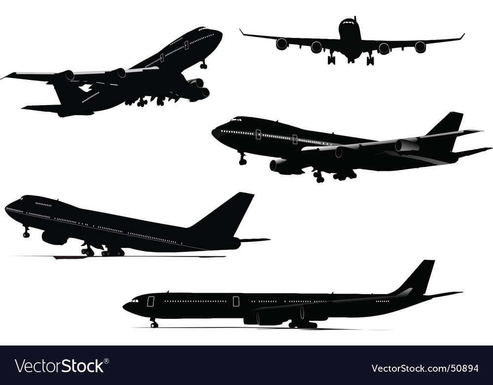 Plane silhouettes vector | Price: 1 Credit (USD $1)