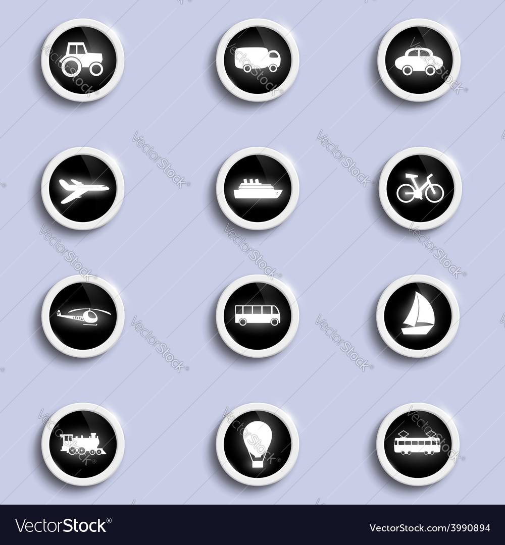 Set of icons of transport vector | Price: 1 Credit (USD $1)