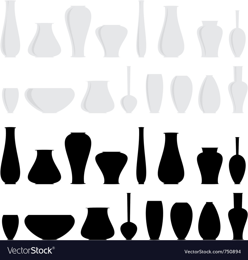 Vases vector | Price: 1 Credit (USD $1)
