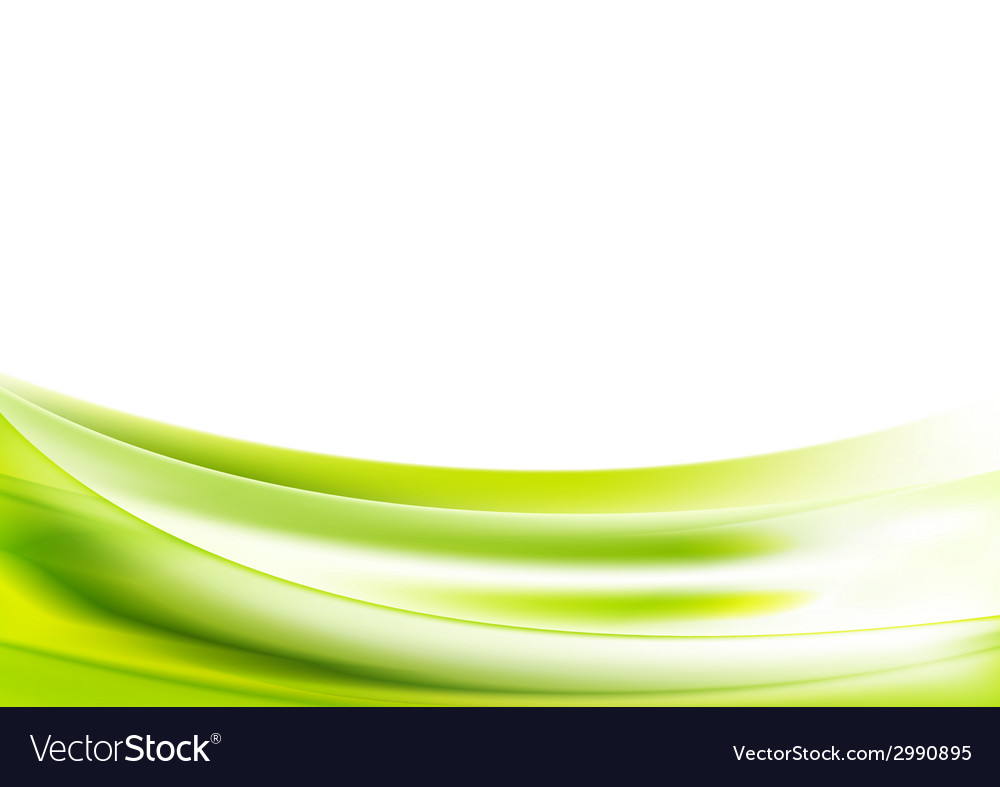 Abstract bright green wavy background vector | Price: 1 Credit (USD $1)