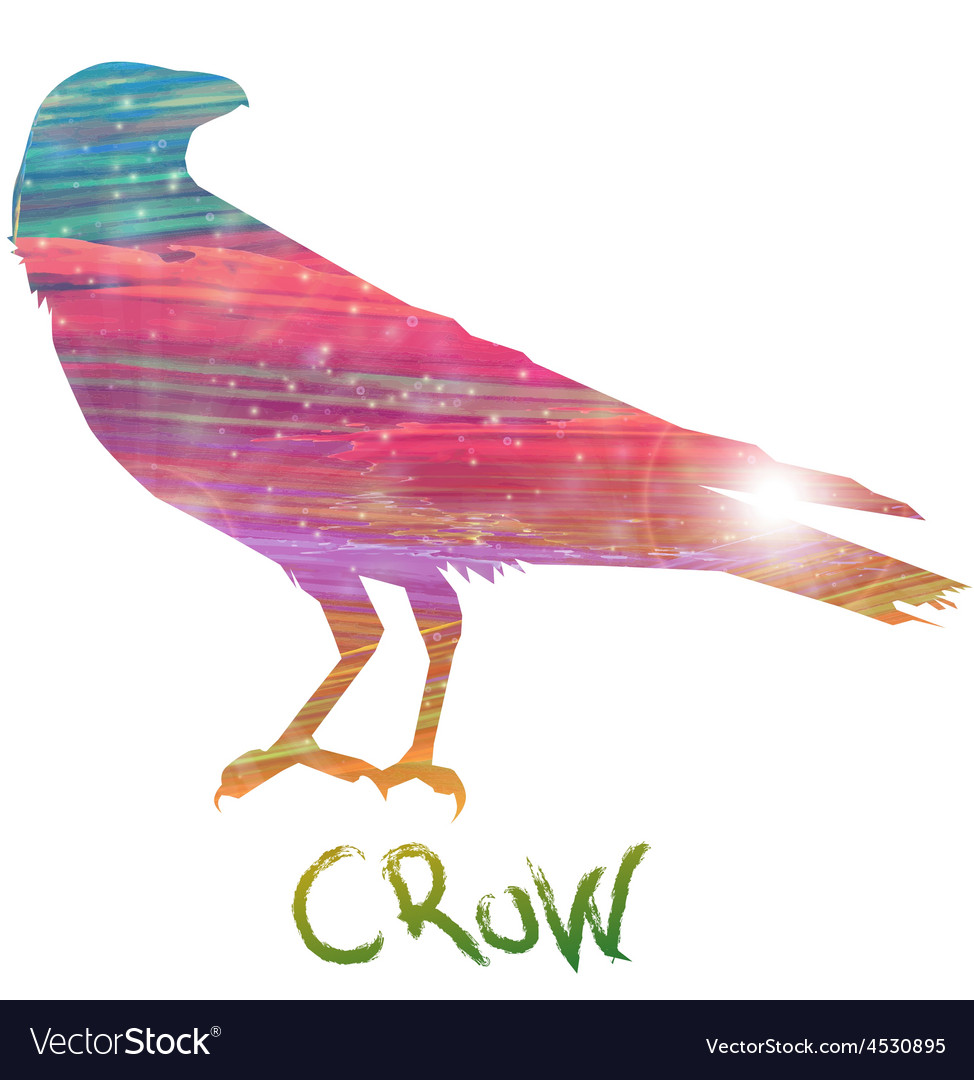 Abstract crow vector | Price: 1 Credit (USD $1)