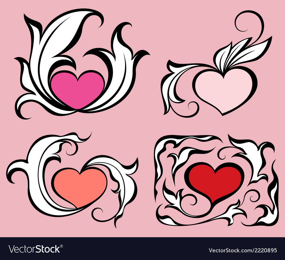 Abstract hearts vector | Price: 1 Credit (USD $1)