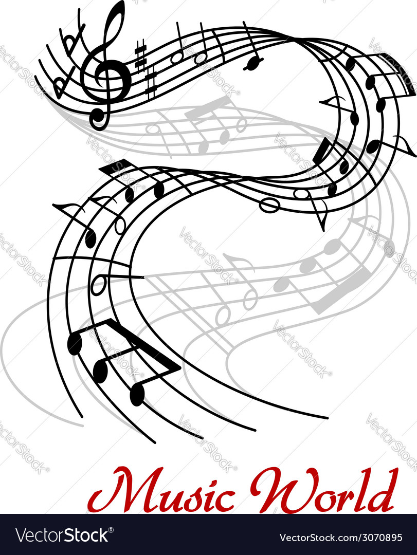 Abstract music wave design vector | Price: 1 Credit (USD $1)