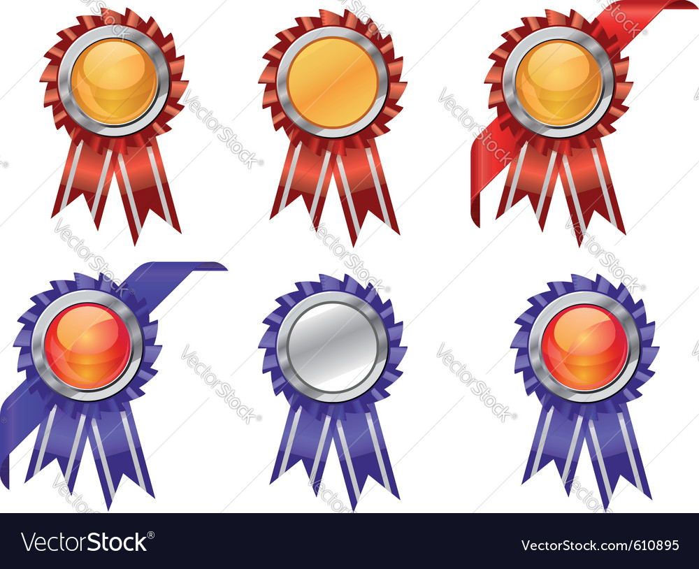 Award ribbons vector | Price: 3 Credit (USD $3)