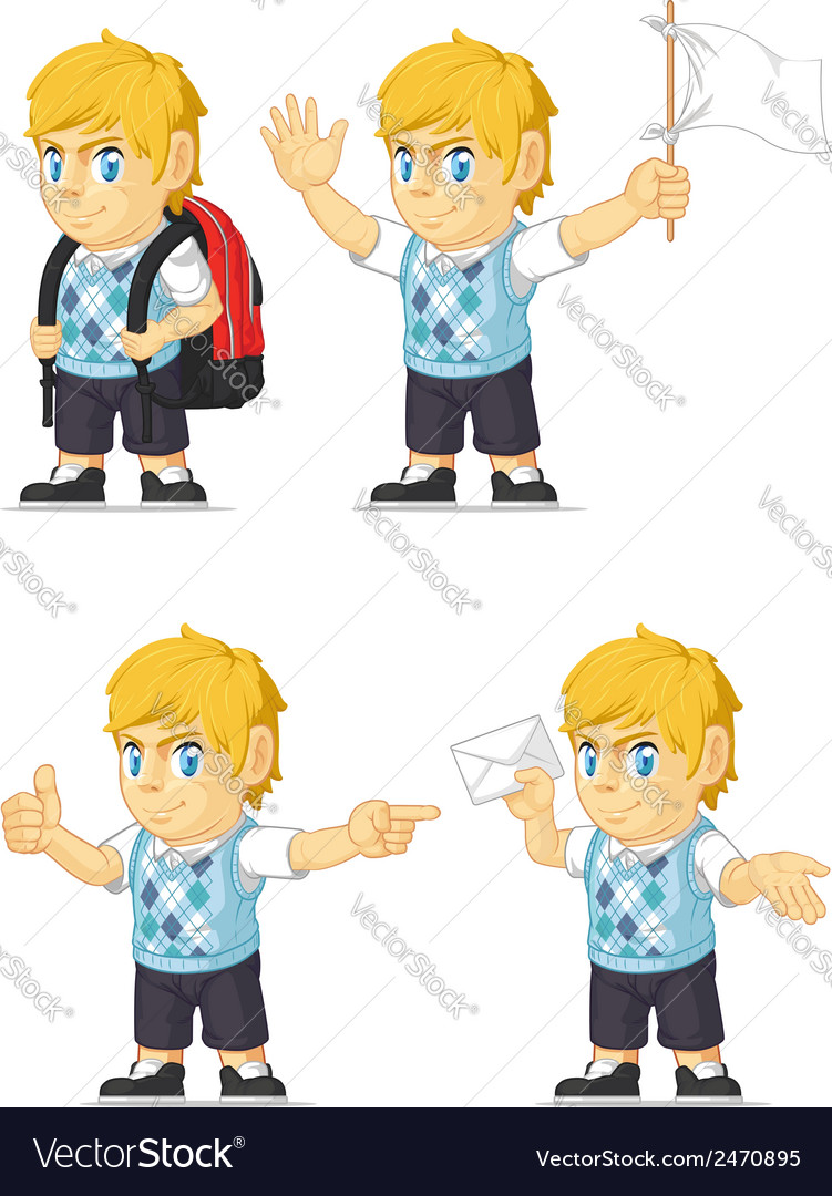 Blonde rich boy customizable mascot 9 vector | Price: 1 Credit (USD $1)