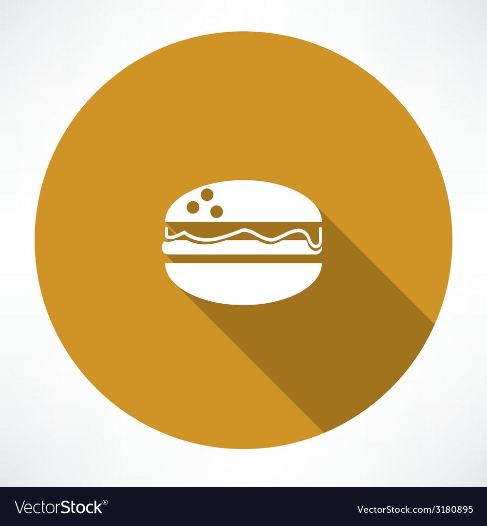 Burger icon vector | Price: 1 Credit (USD $1)