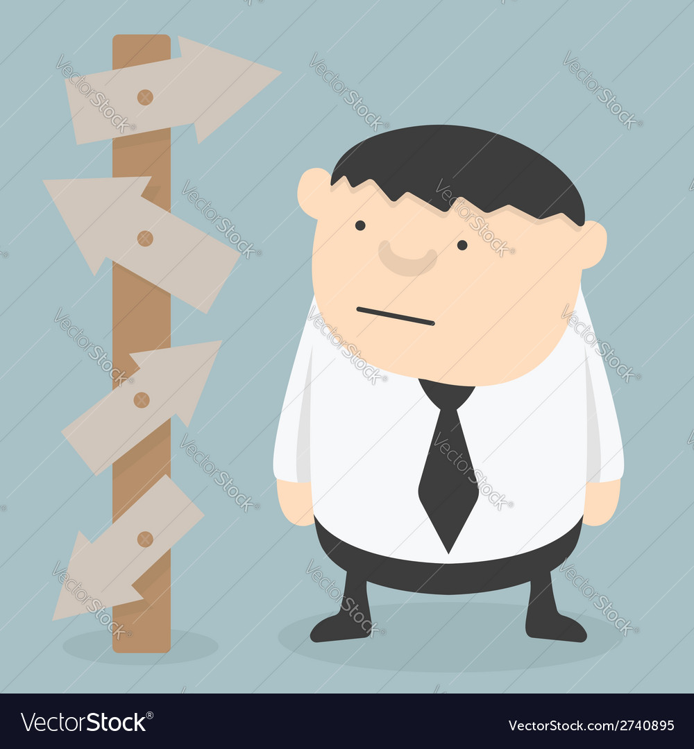 Businessman choice eps 10 vector | Price: 1 Credit (USD $1)