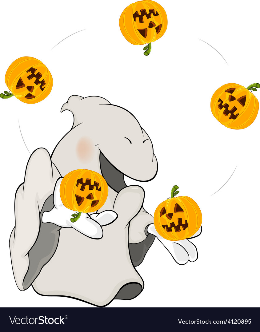 Ghost the juggler cartoon vector | Price: 3 Credit (USD $3)