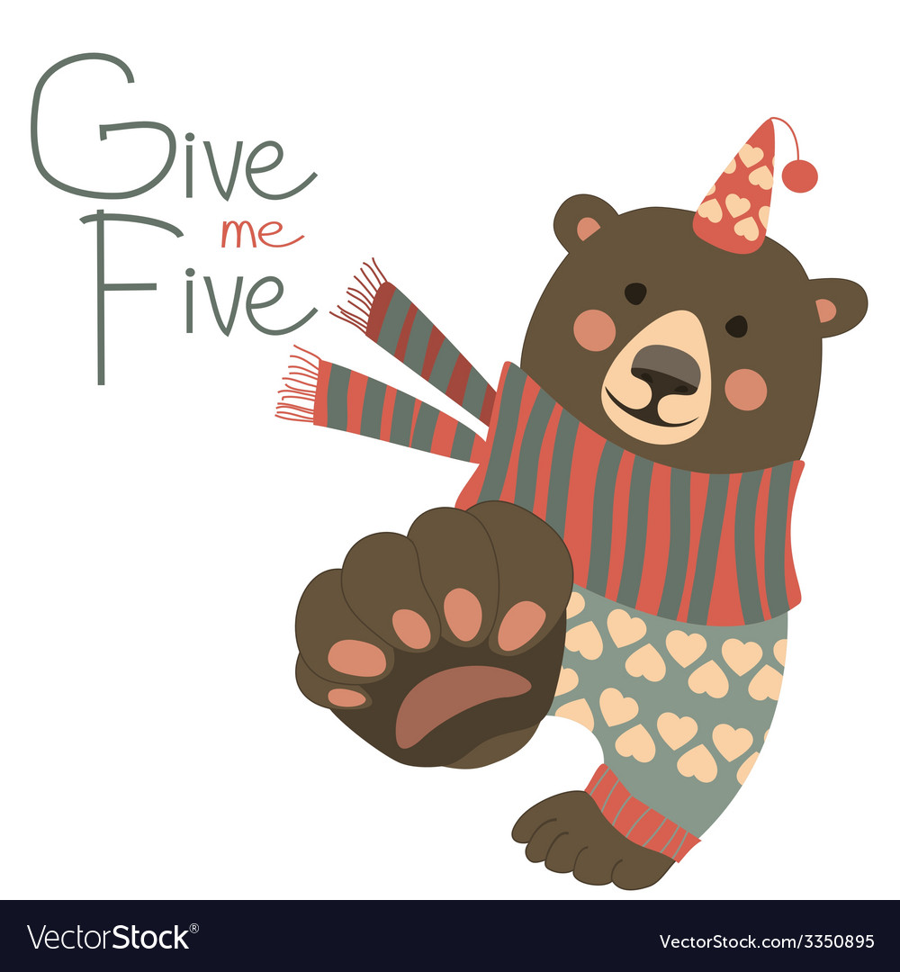 Give me five vector | Price: 1 Credit (USD $1)