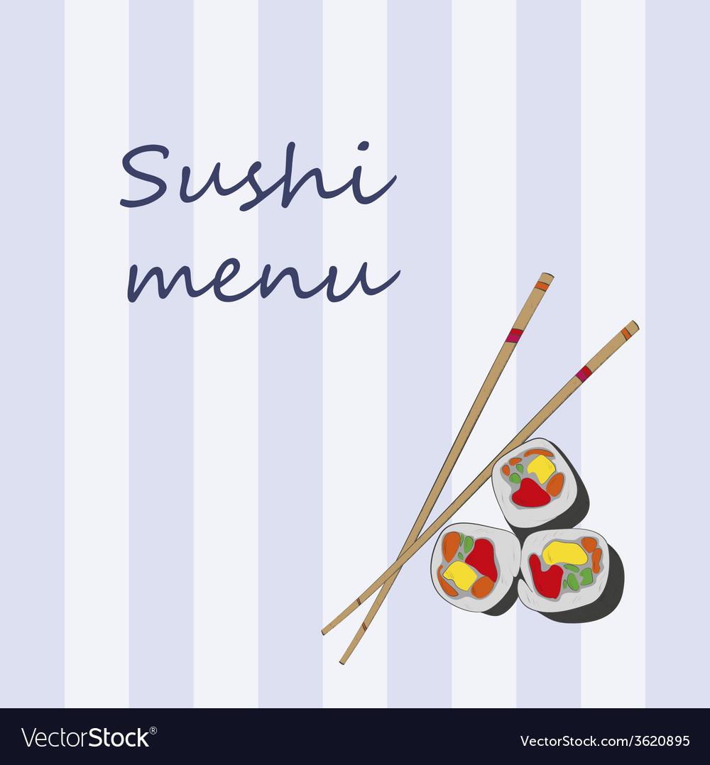 Japanese cuisine restaurant sushi menu cover templ vector | Price: 1 Credit (USD $1)