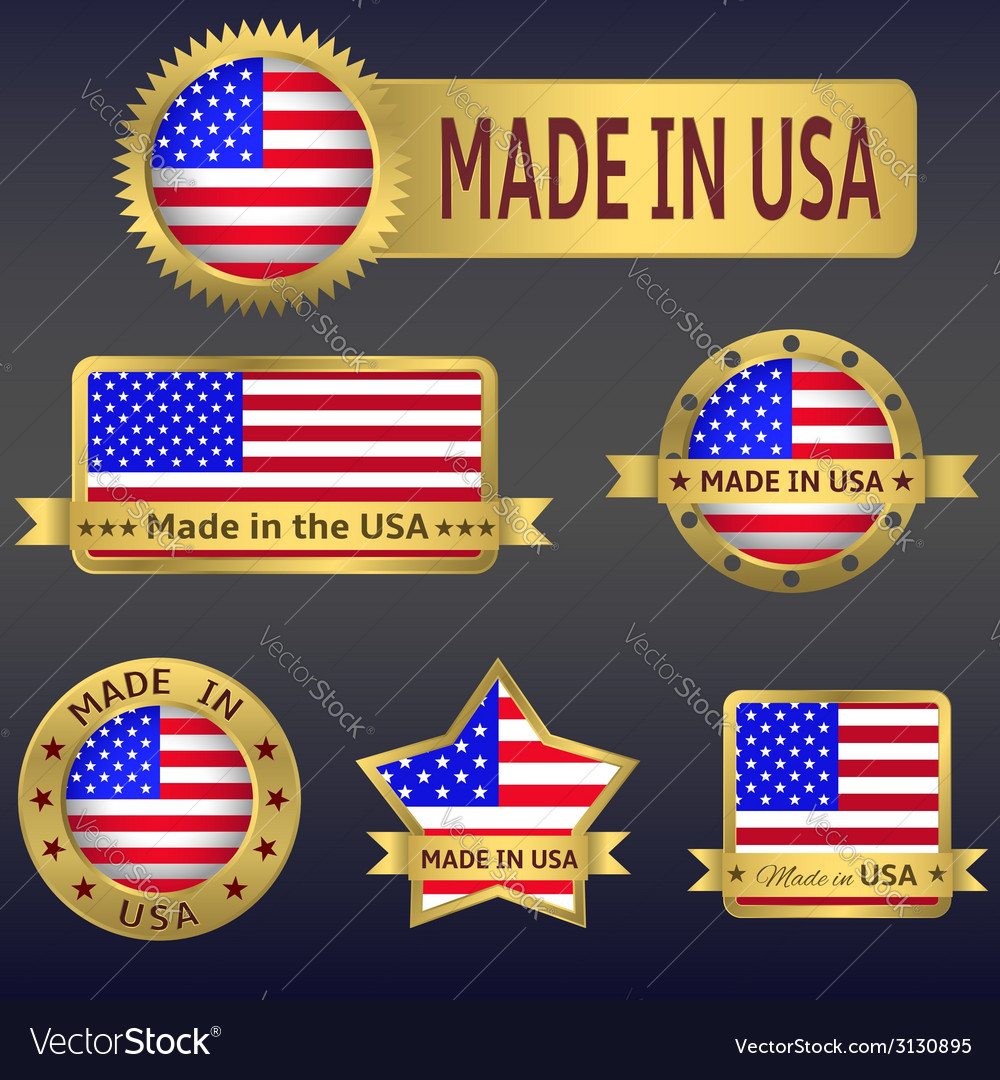 Made in usa vector | Price: 1 Credit (USD $1)