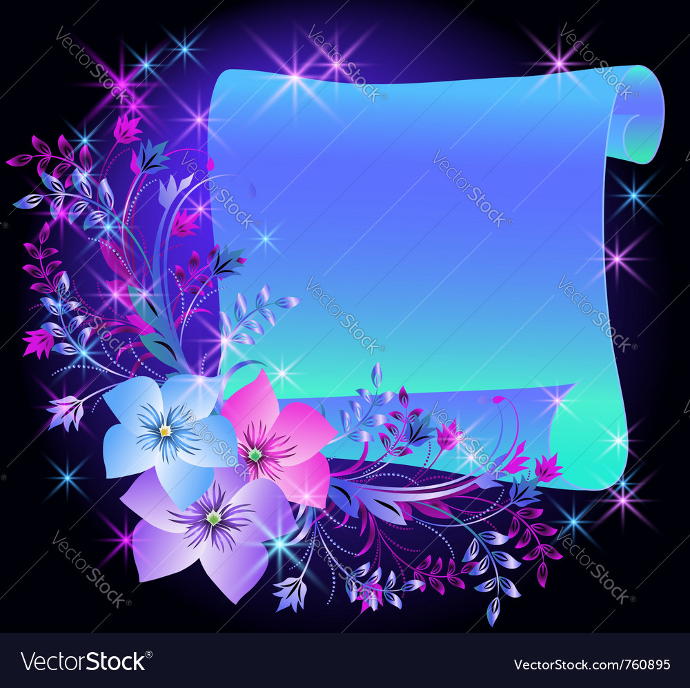 Magic flowers vector | Price: 1 Credit (USD $1)