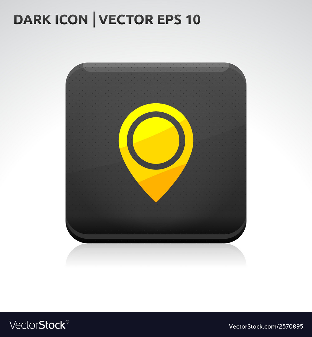 Navigation - pointer icon gold vector | Price: 1 Credit (USD $1)