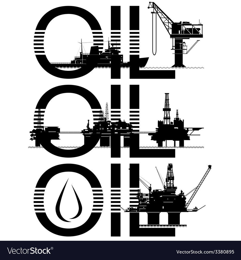 Oil platforms vector | Price: 1 Credit (USD $1)