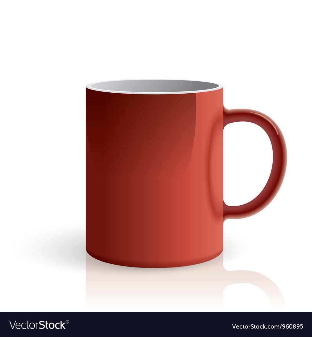 Red mug vector | Price: 1 Credit (USD $1)