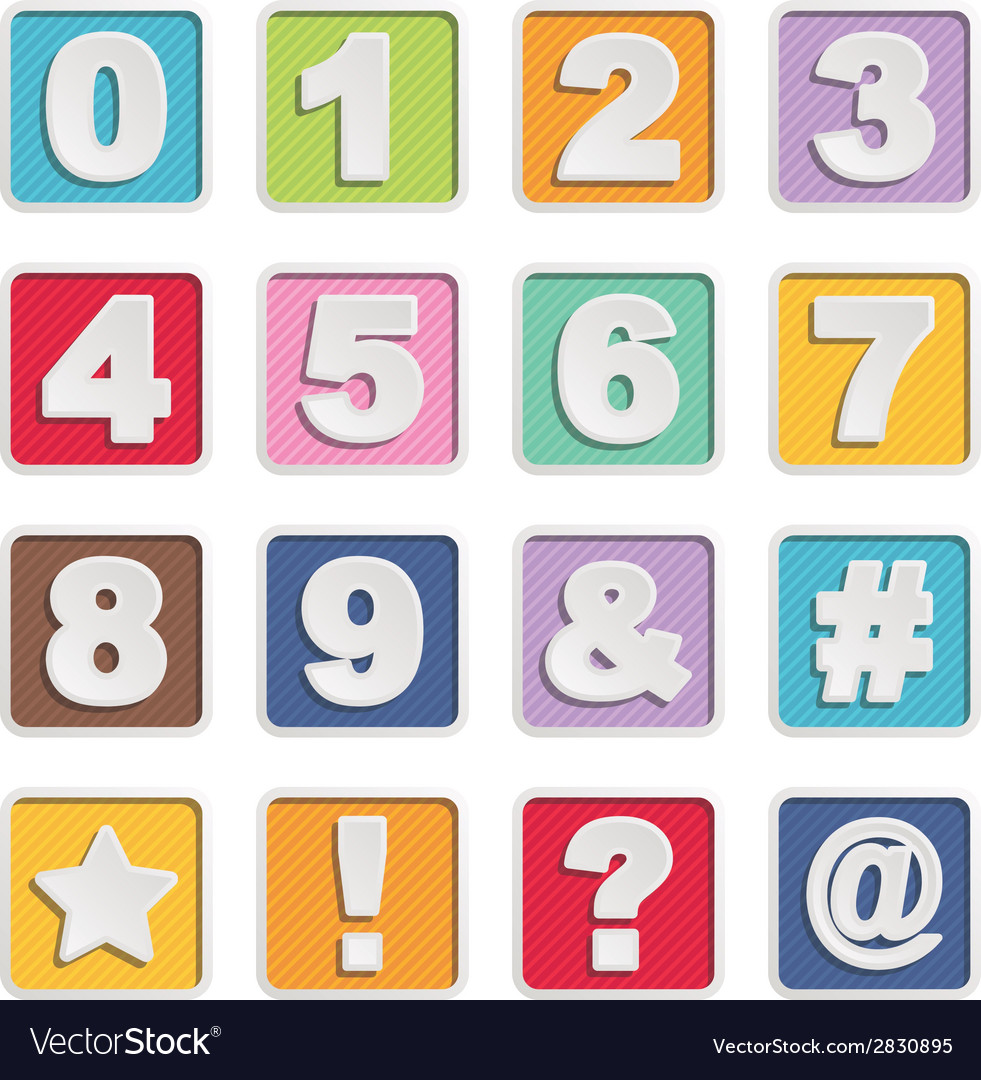 Square alphabet icons vector   Price: 1 Credit (USD $1)