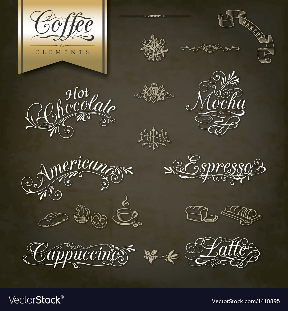 Vintage style coffee menu designs vector | Price: 1 Credit (USD $1)