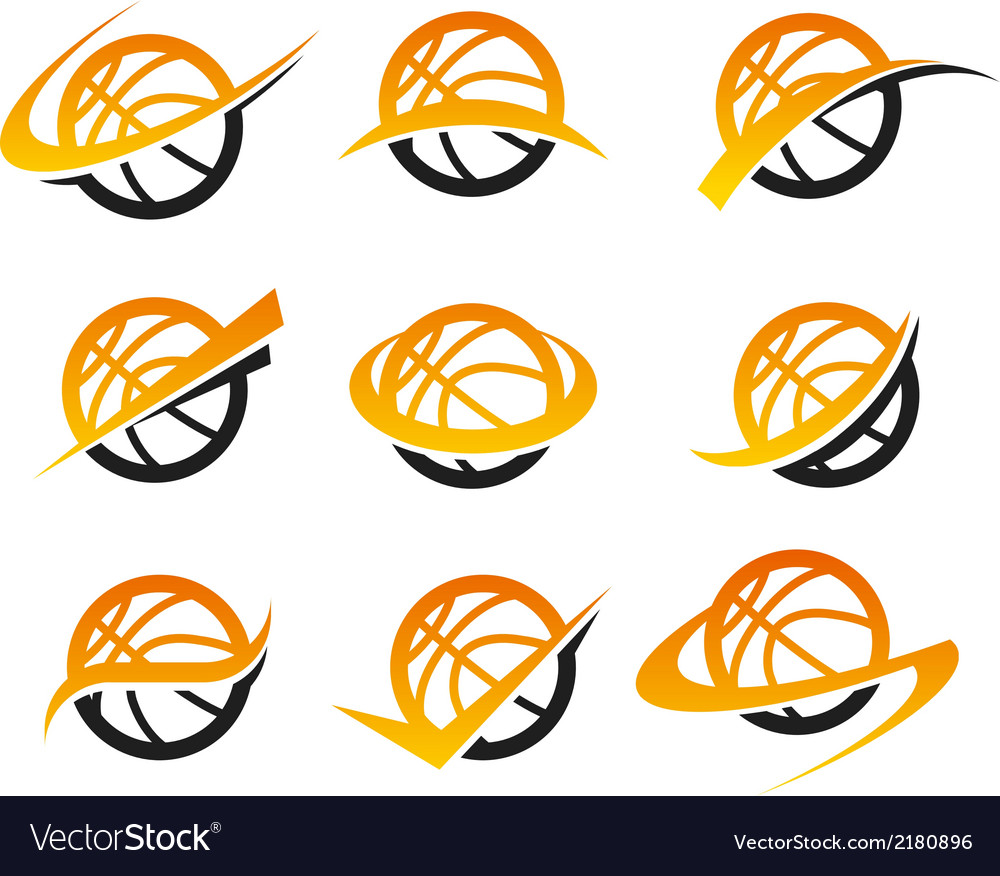 Basketball icons vector | Price: 1 Credit (USD $1)
