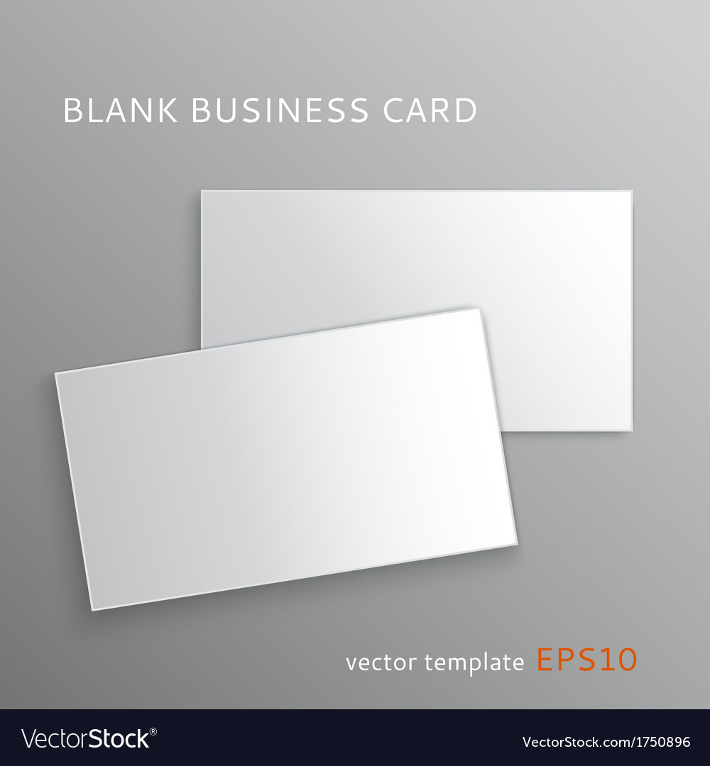 Blank business card vector | Price: 1 Credit (USD $1)