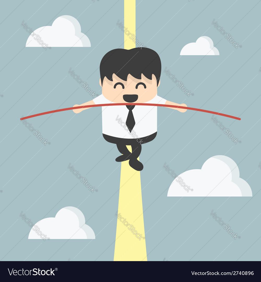Business man balancing vector | Price: 1 Credit (USD $1)
